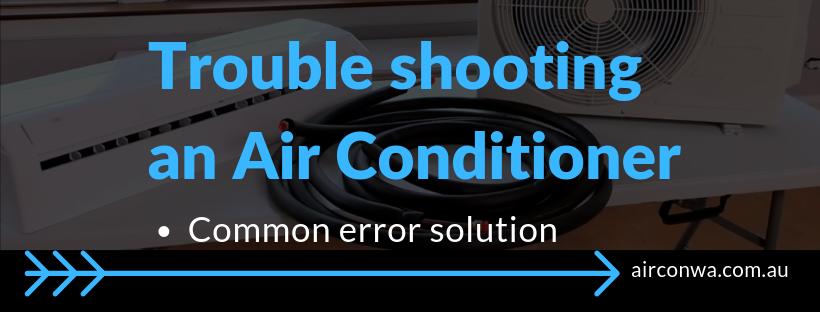 Air con error code